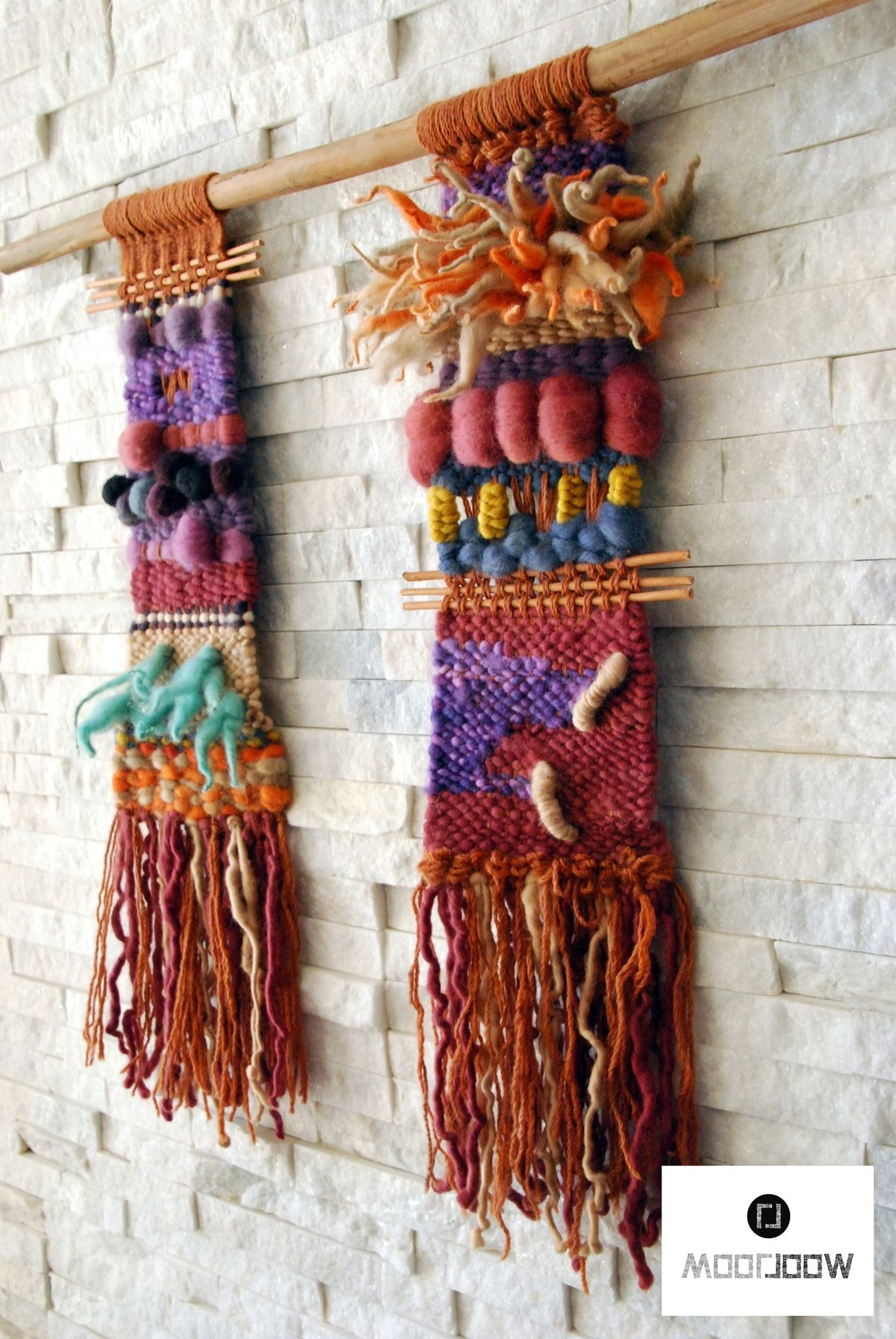 Inca – Hand Woven Wall Hanging // Weaving // Telar Decorativo Made Regarding Well Liked Woven Fabric Wall Art (View 5 of 15)