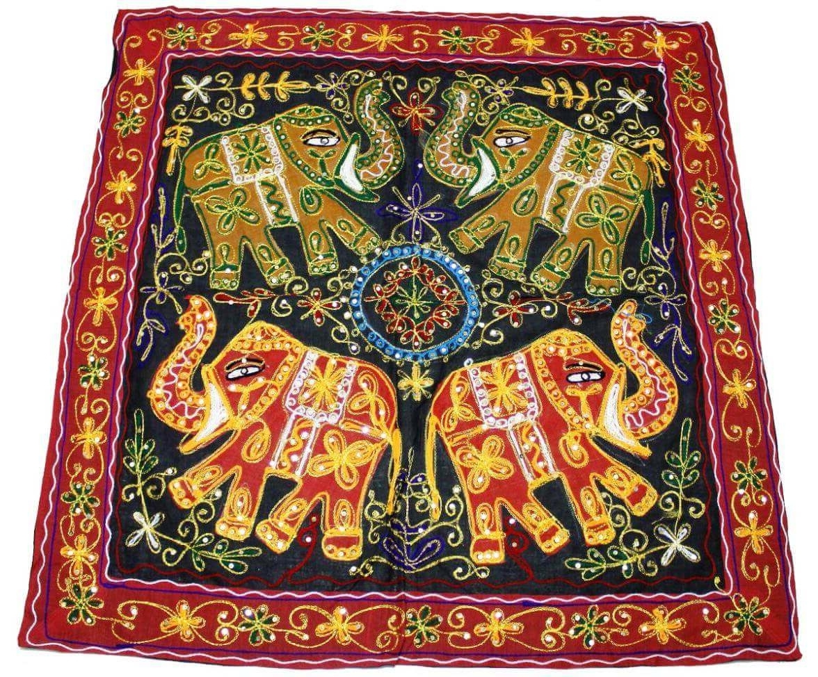 Indian Elephant Tapestry Wall Hanging These Embroidered Wall Within Latest Indian Fabric Wall Art (Gallery 9 of 15)