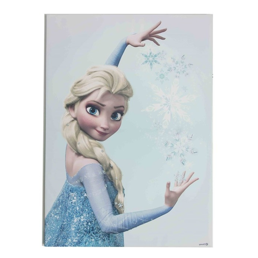 Interesting 10+ Frozen Wall Art Decorating Inspiration Of Frozen For Famous Elsa Canvas Wall Art (View 9 of 15)