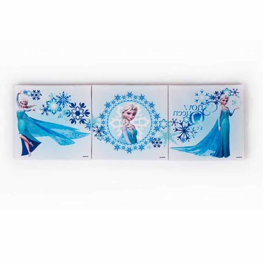 Interesting 10+ Frozen Wall Art Decorating Inspiration Of Frozen Intended For 2017 Elsa Canvas Wall Art (View 10 of 15)