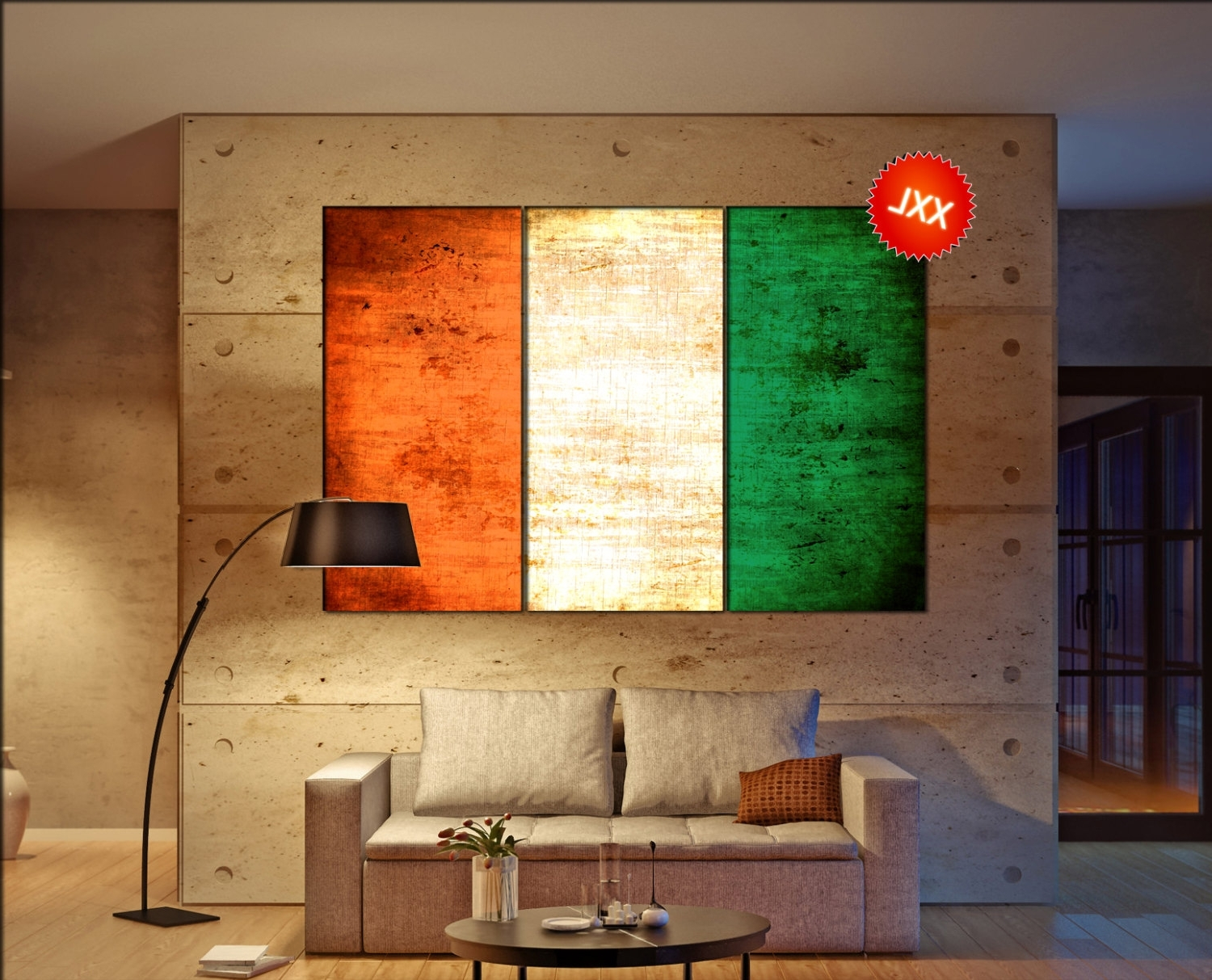 Ireland Canvas Wall Art In Popular Ireland Flag Canvas Wall Art Art Print Large Canvas Wall Art Print (View 7 of 15)