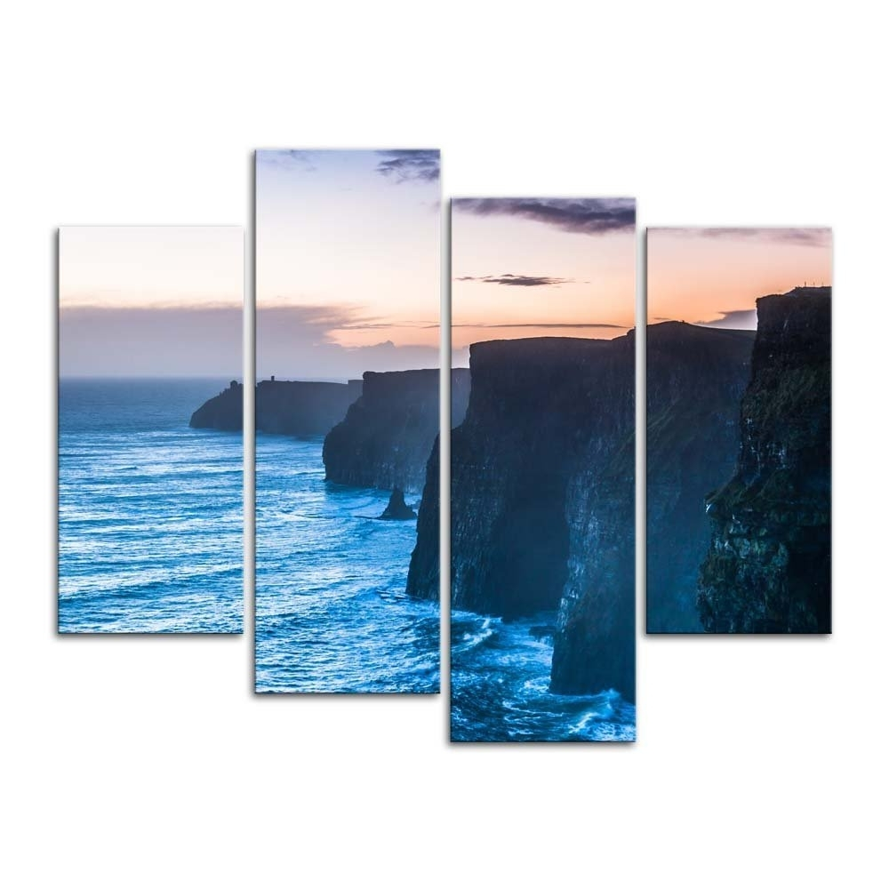 Ireland Canvas Wall Art Regarding Fashionable Amazon: 4 Pieces Modern Canvas Painting Wall Art The Picture (View 8 of 15)