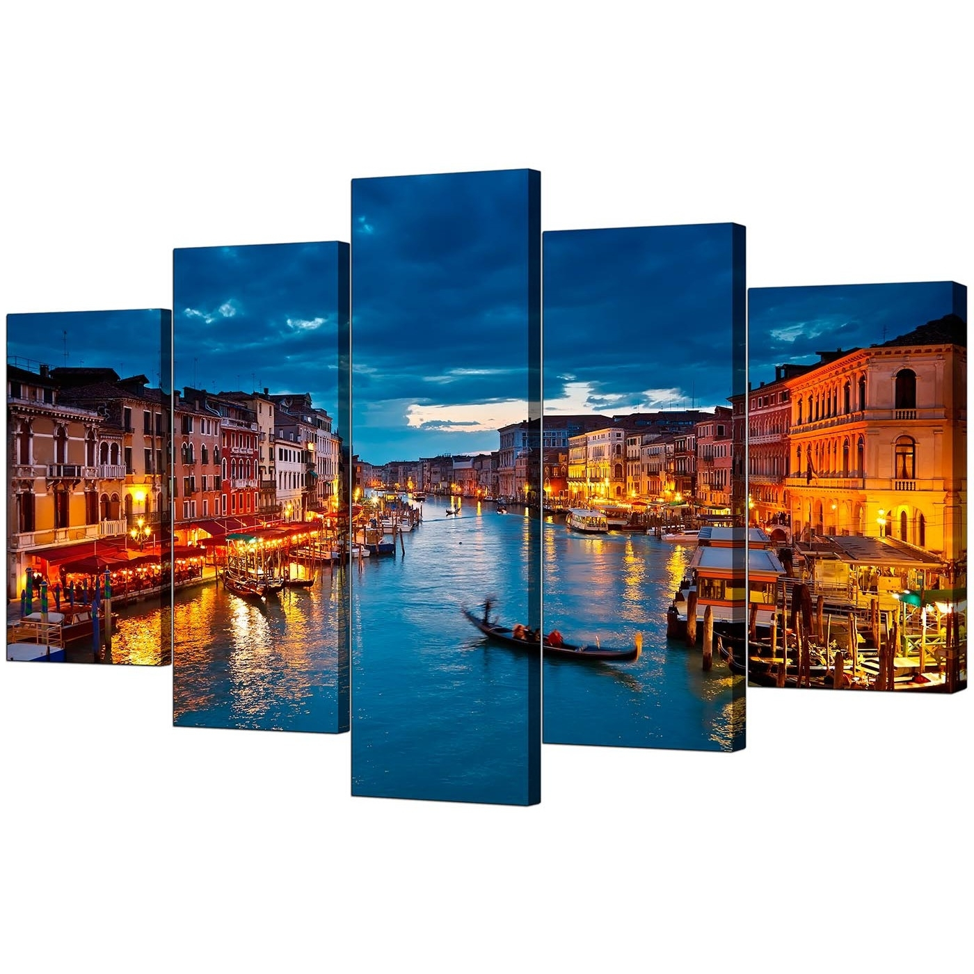 Italy Canvas Wall Art Inside Well Known Venice Italy Canvas Prints For Your Living Room – 5 Panel (View 10 of 15)