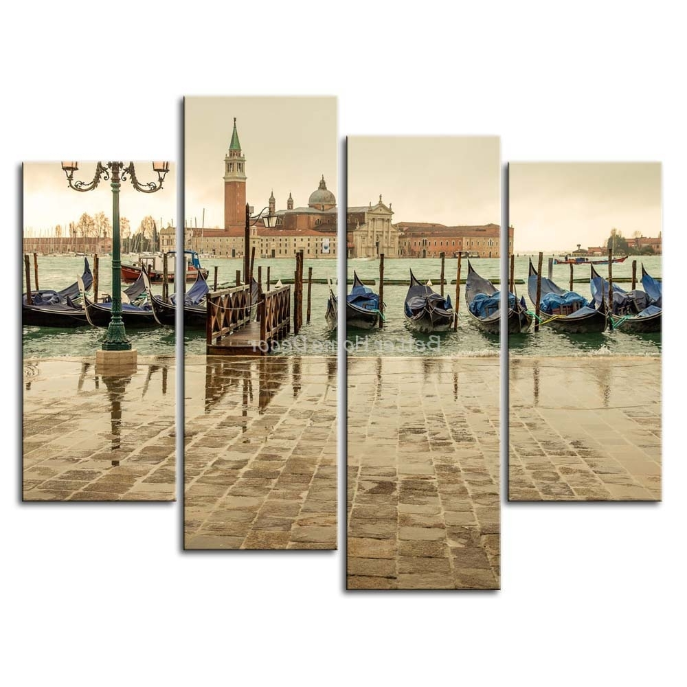 Italy Canvas Wall Art Intended For Fashionable Wall Art Design: Venice Wall Art 3 Piece Wall Art Painting Church (View 11 of 15)