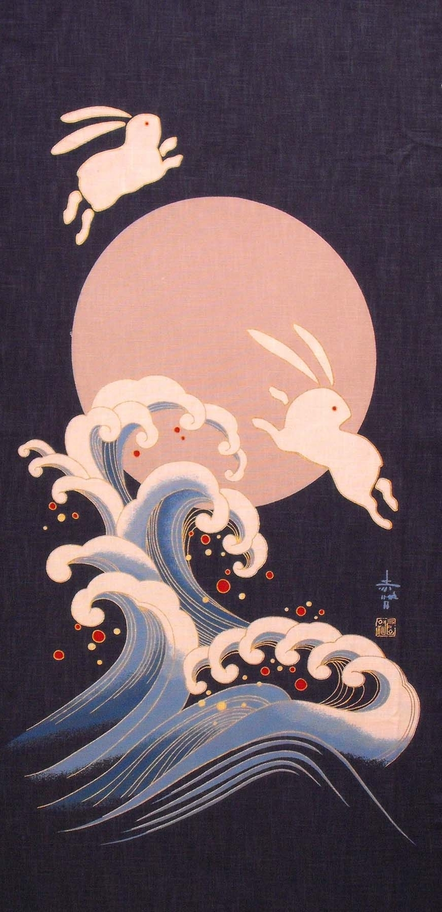 Japanese Fabric Panel. The Japanese Believe You See An Usagi Intended For Most Popular Japanese Fabric Wall Art (Gallery 3 of 15)