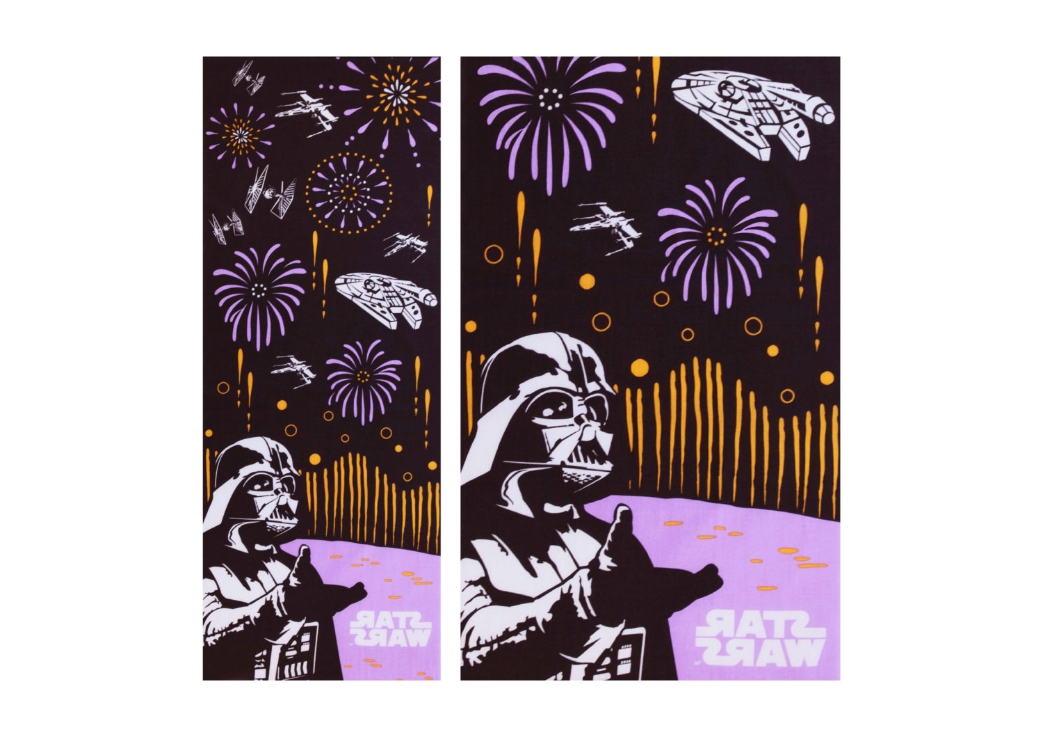 Japanese Tenugui Dark Vader Fabric, Whater Fall Tenugui, Kawaii For Favorite Japanese Fabric Wall Art (View 5 of 15)
