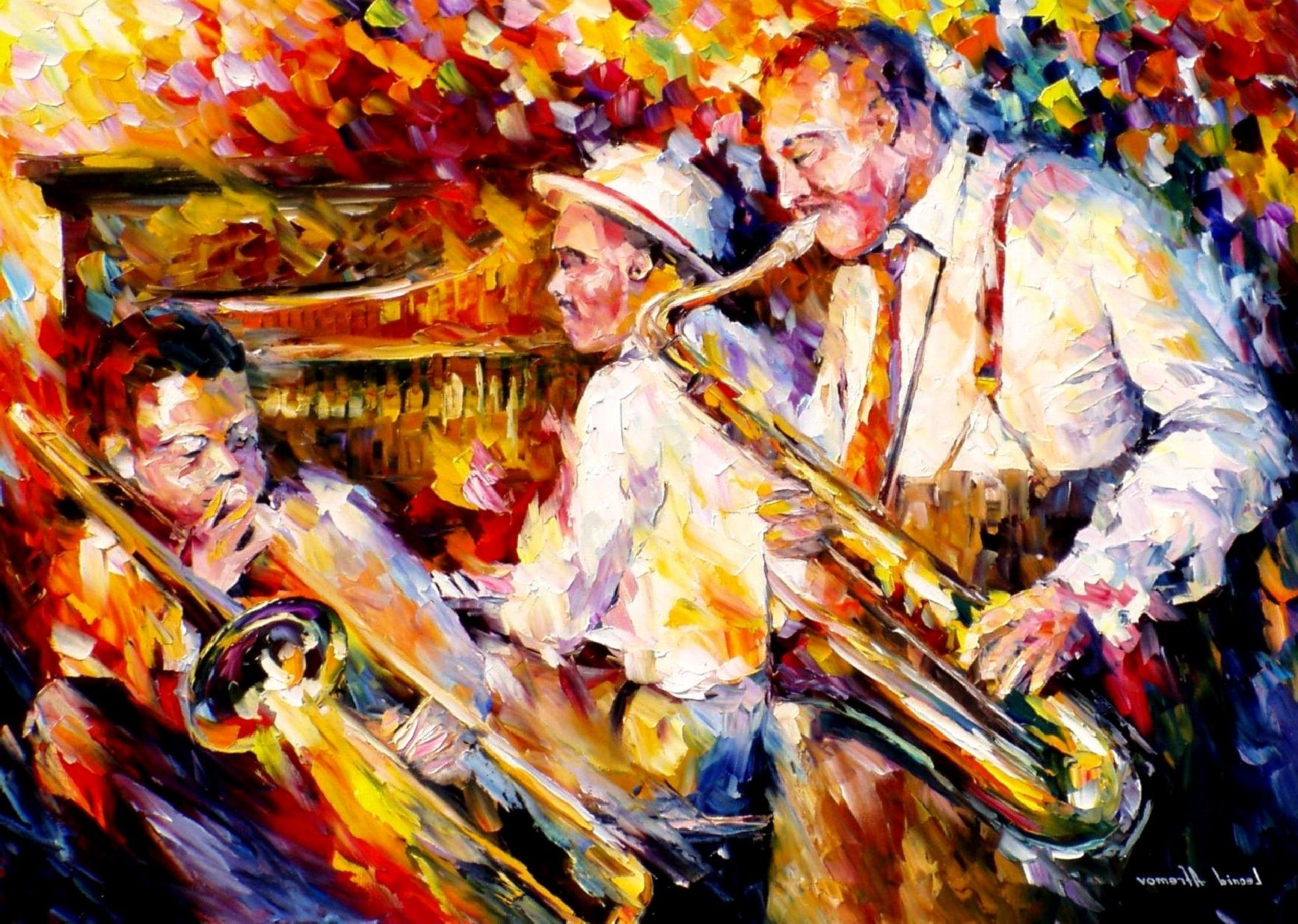 Jazz Canvas Wall Art Regarding Best And Newest Leonid Afremov, Oil On Canvas, Palette Knife, Buy Original (Gallery 14 of 15)