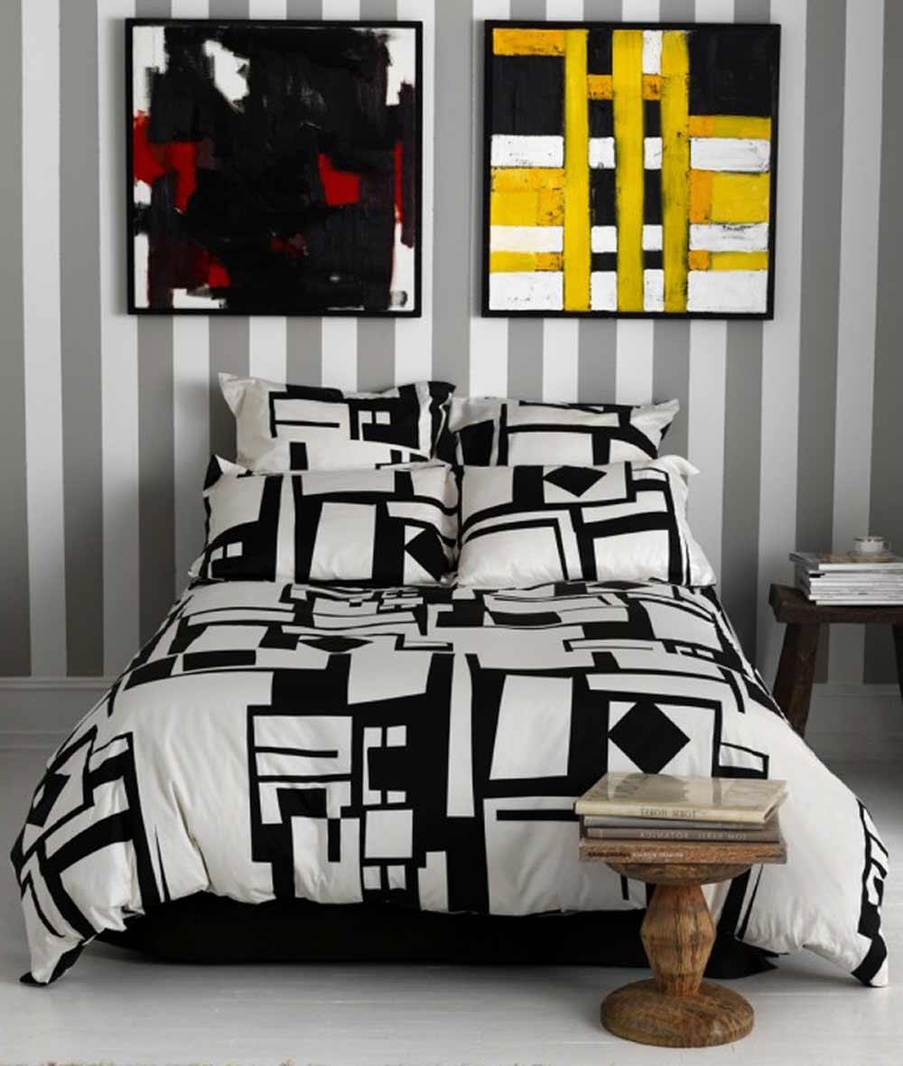 Jcpenney Canvas Wall Art Throughout Most Recent Black And White Bedding At Jcpenney : The Elegant Looks Of Black (View 9 of 15)