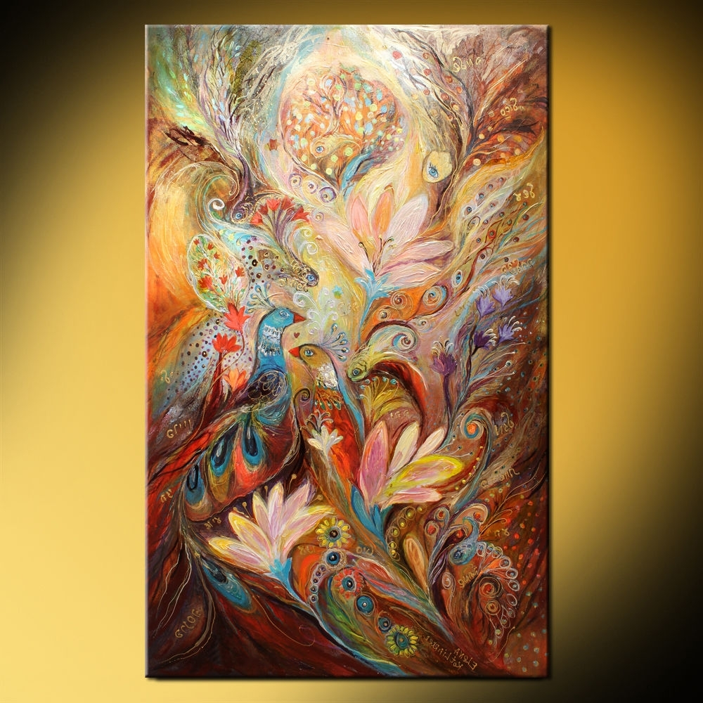 Jewish Canvas Wall Art Inside 2018 The Lilies And Bell Flowers (Elena Kotliarker) (View 6 of 15)