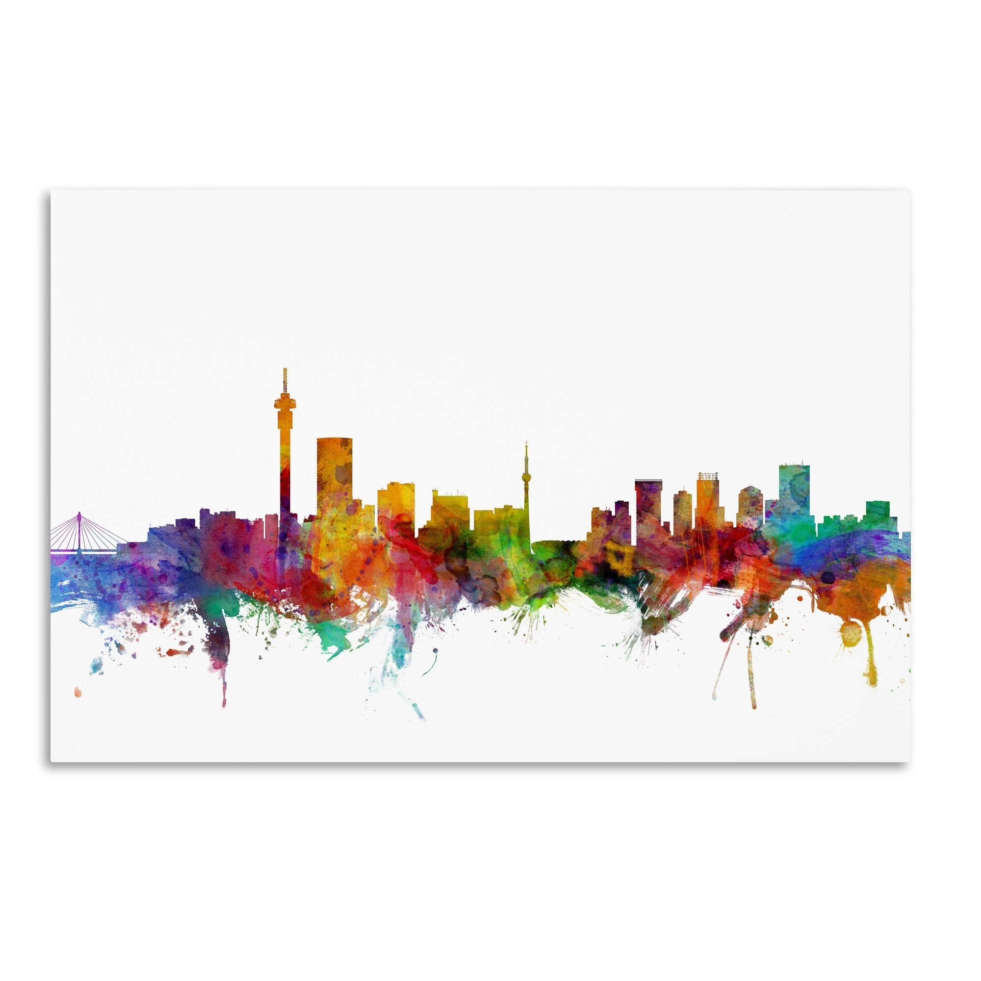 Johannesburg Canvas Wall Art Within Famous Michael Tompsett 'johannesburg South Africa Skyline' Wall Art (Gallery 1 of 15)