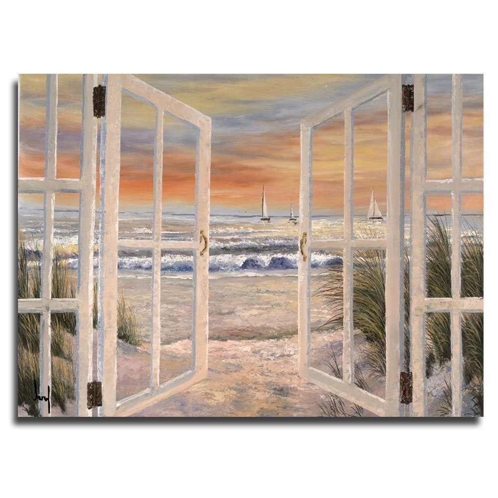 Joval Canvas Wall Art Pertaining To Recent Amazon: Elongated Windowjoval, 14x19 Inch Canvas Wall Art (View 5 of 15)