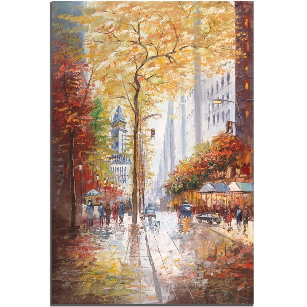 Joval Canvas Wall Art Regarding Trendy Amazon: French Street Scene Iijoval, 24X32 Inch Canvas (Gallery 3 of 15)