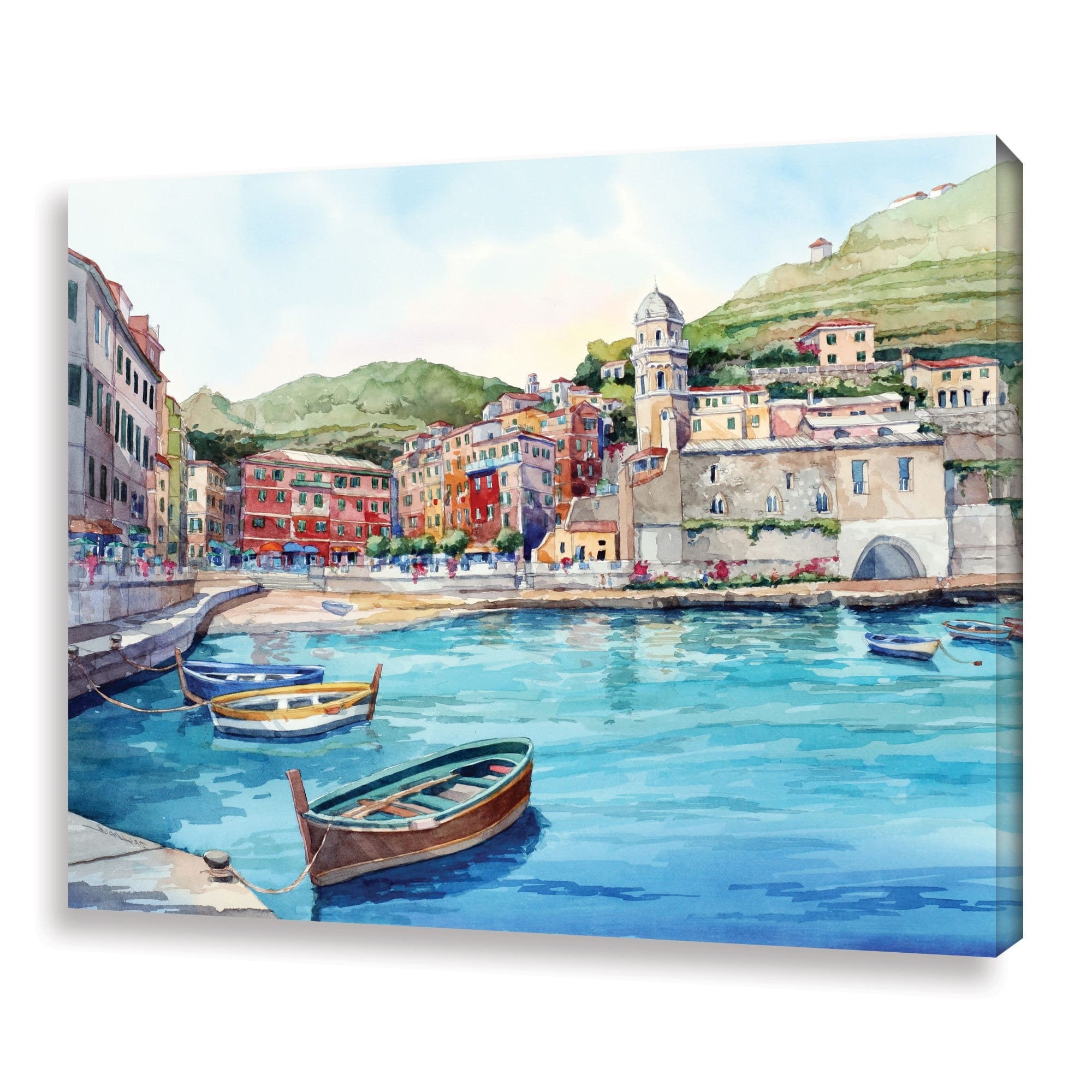 Joval Canvas Wall Art With Best And Newest Artwall Bill Drysdale ' Vernazza ' Gallery Wrapped Canvas – Free (View 14 of 15)