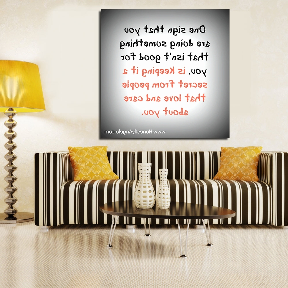 Jqhyart Funny Quotes About Lifes Little Frustrations Canvas Wall Regarding Well Known Canvas Wall Art Funny Quotes (Gallery 13 of 15)