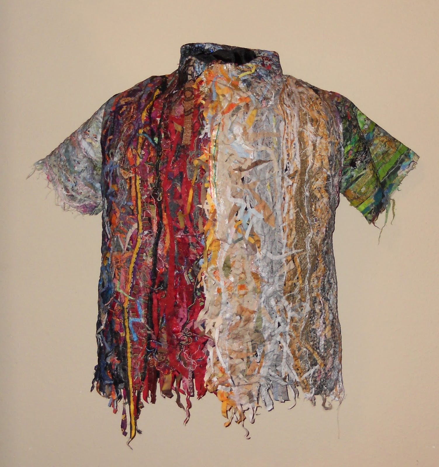 Judys Fiber Art: Shirtwaste: Fabric Sculpture With Best And Newest Fabric Collage Wall Art (View 11 of 15)