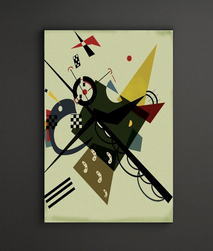 Kandinsky On White 2 A4 Framed/box Canvas A4 A3 A2 A1 Gift Ideas With Regard To Trendy Leadgate Canvas Wall Art (View 8 of 15)
