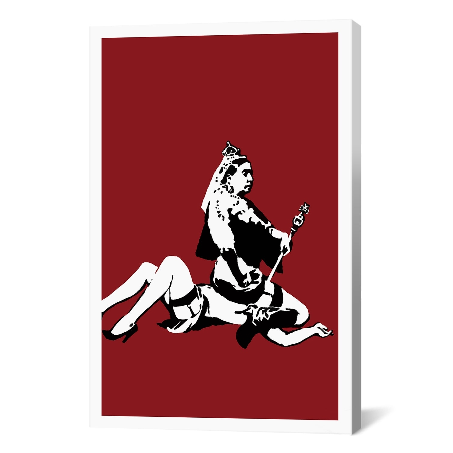Kent Canvas Wall Art Inside Newest Icanvas Banksy 'queen Victoria Lesbian' Canvas Print Wall Art (View 9 of 15)