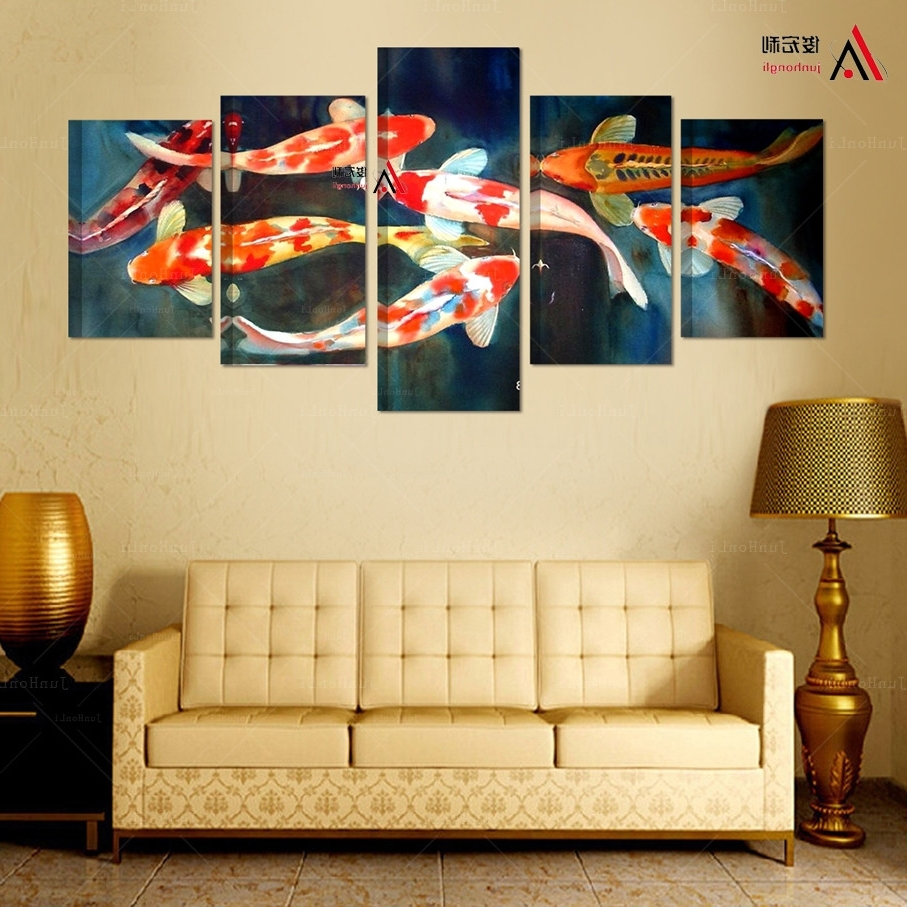 15 Ideas of Koi Canvas Wall Art
