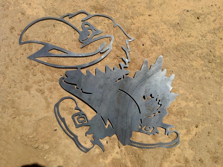 Ku Jayhawk Metal Decor. $40.00, Via Etsy. (Gallery 12 of 15)