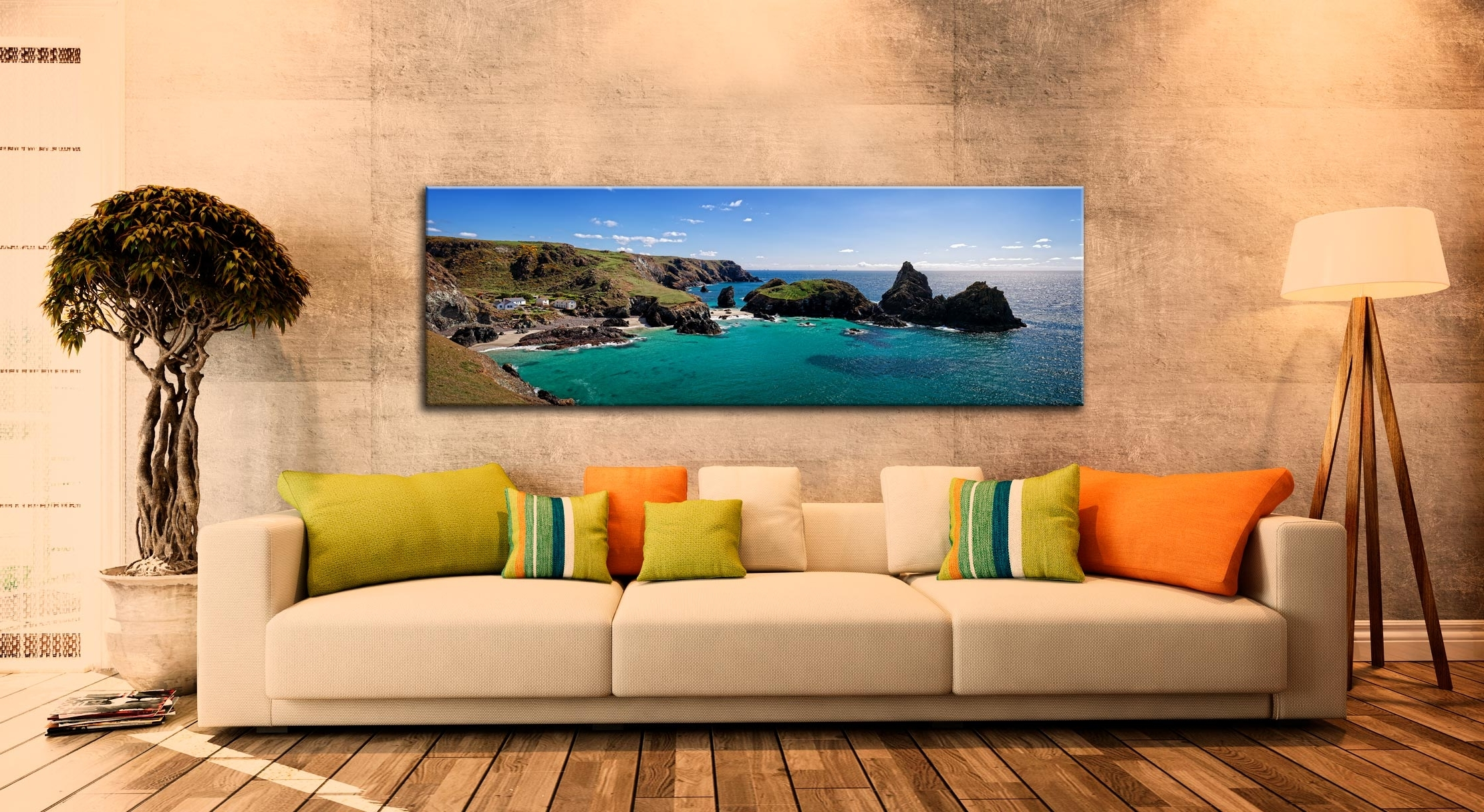 Kynance Cove Panorama – Cornwall Canvas In Best And Newest Panoramic Canvas Wall Art (View 5 of 15)
