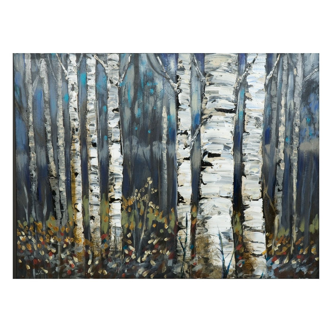 Laila's Ili142 11f Birch Trees Canvas Art (View 3 of 15)
