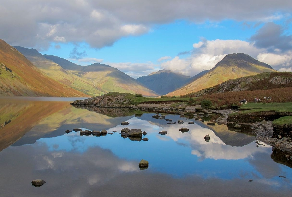 Lake District Canvas Wall Art Throughout Best And Newest Landscape Framed Canvas Wall Art – Reflections Of The Lake District (View 7 of 15)
