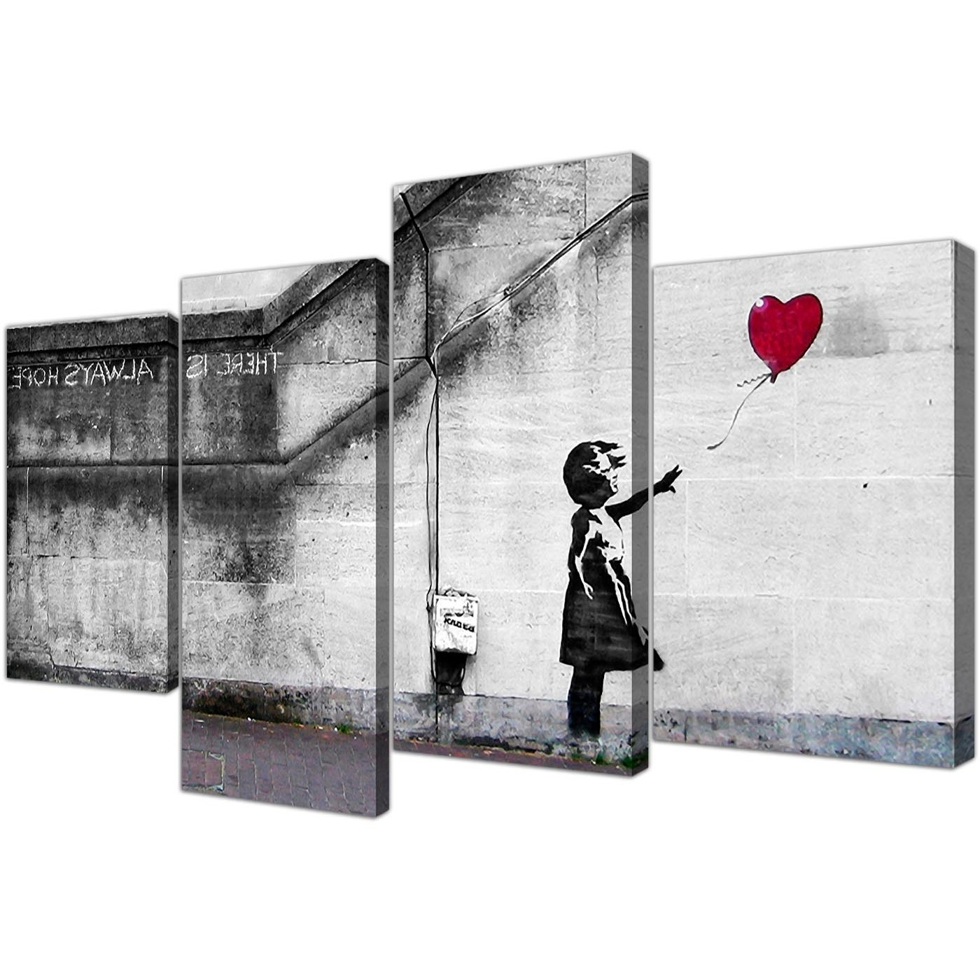 Large Banksy Canvas Prints – Balloon Girl Red With Preferred Red Canvas Wall Art (View 5 of 15)