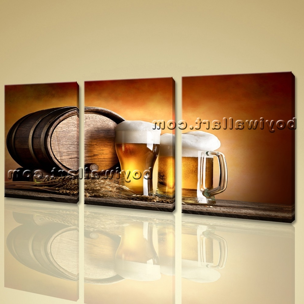 Large Canvas Wall Art With Popular Canvas Prints Food And Beverage Beer Contemporary Home Decor Wall Art (View 14 of 15)