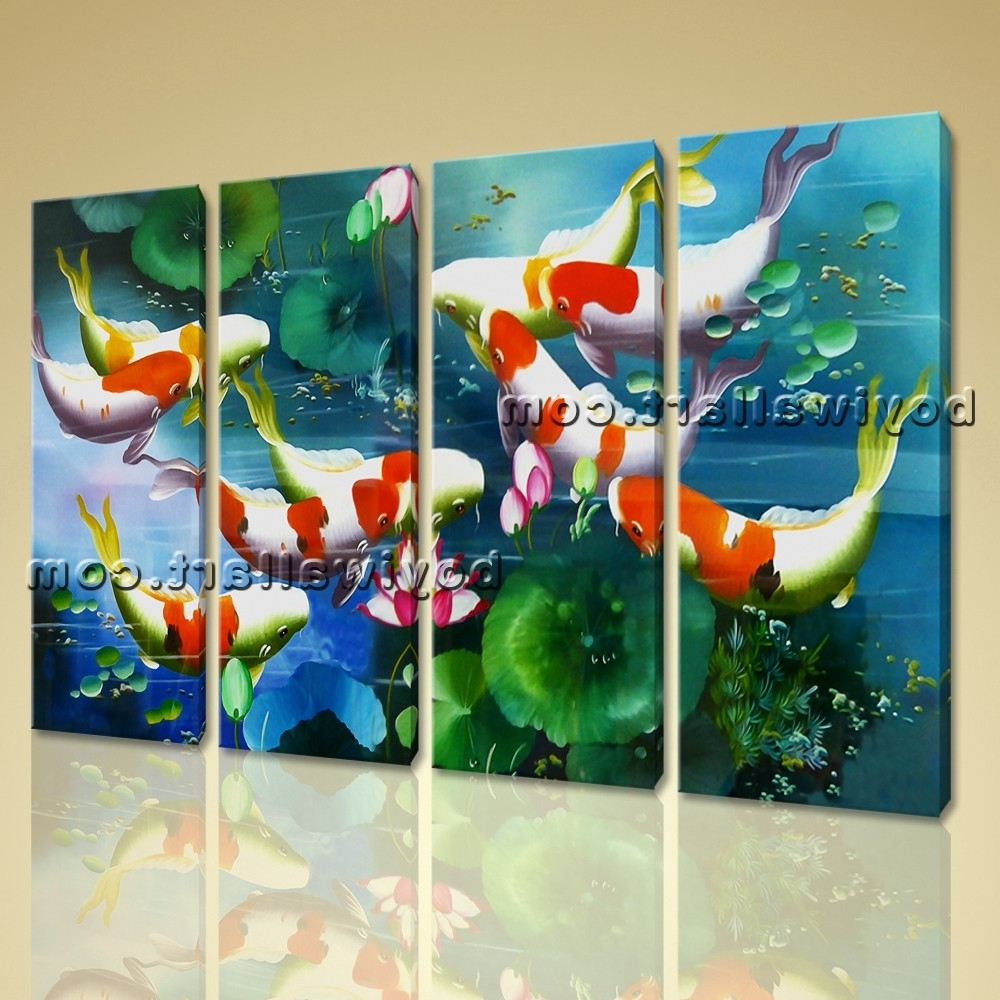 15 ideas of koi canvas wall art for Koi prints canvas