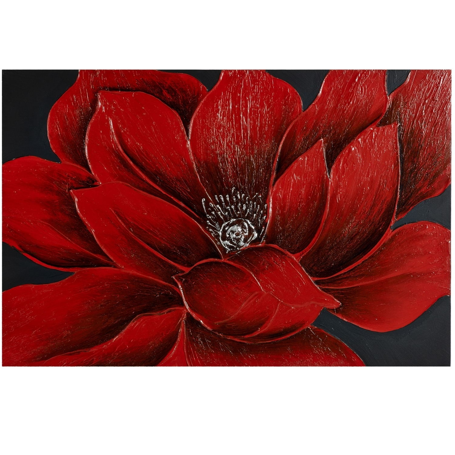 Large Red Canvas Wall Art Intended For Best And Newest Wall Art: Beautiful Images About Red Flower Canvas Wall Art Canvas (View 6 of 15)