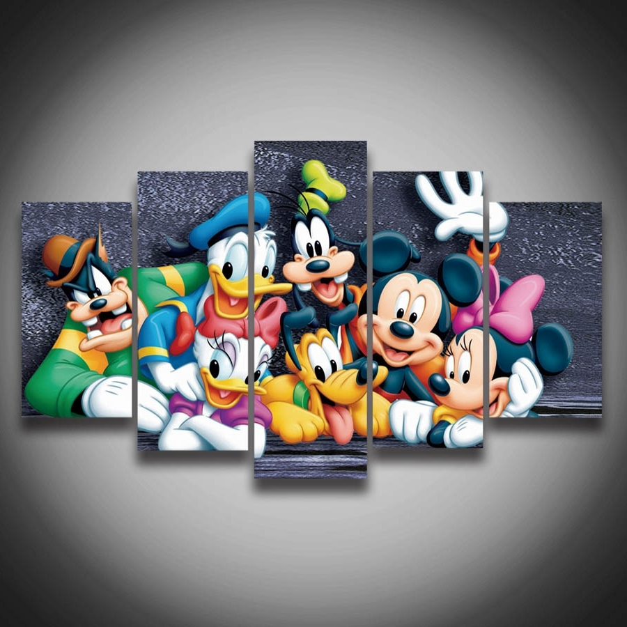 Latest Adorable 60+ Mickey Mouse Wall Art Decorating Inspiration Of 50 In Mickey Mouse Canvas Wall Art (View 3 of 15)