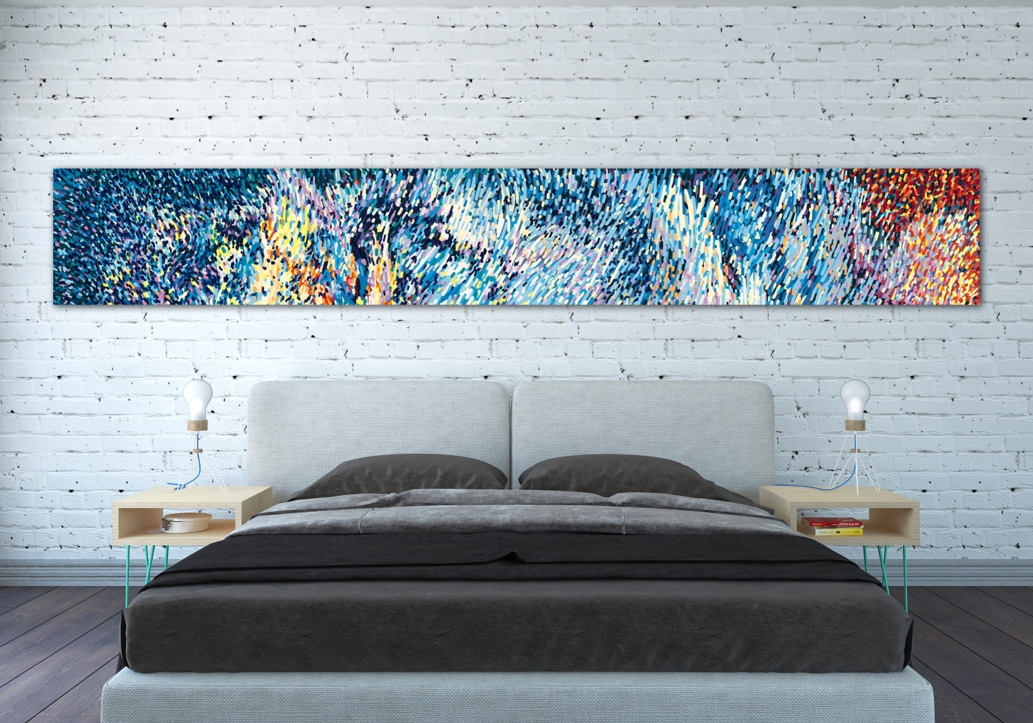 Latest Canvas Print Horizontal Extra Long Horizontal Large Abstract In Gordmans Canvas Wall Art (View 10 of 15)