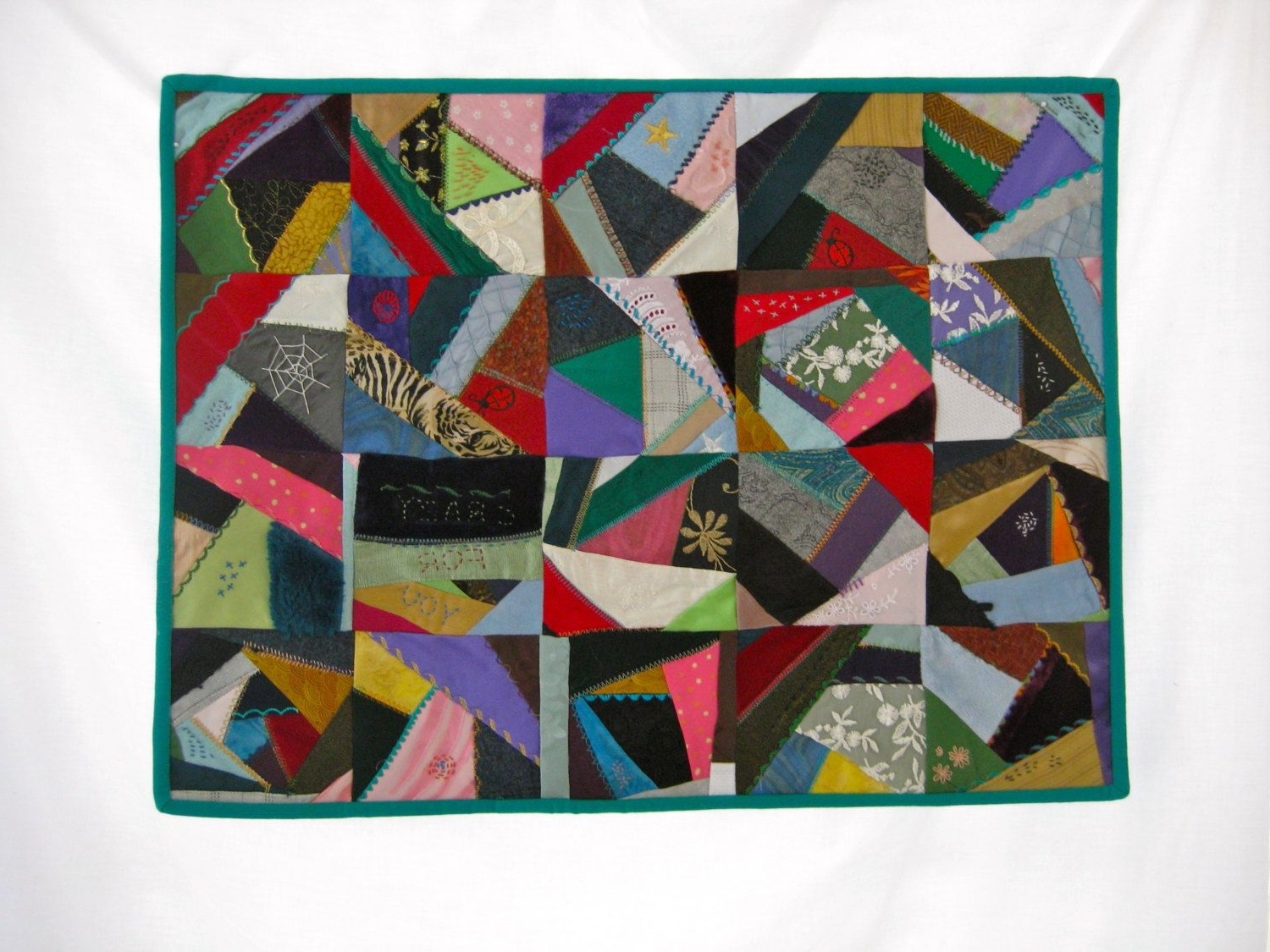Latest Contemporary Crazy Quilt, Fabric Wall Art, Art Quilt, Crazy For Inside Quilt Fabric Wall Art (Gallery 3 of 15)