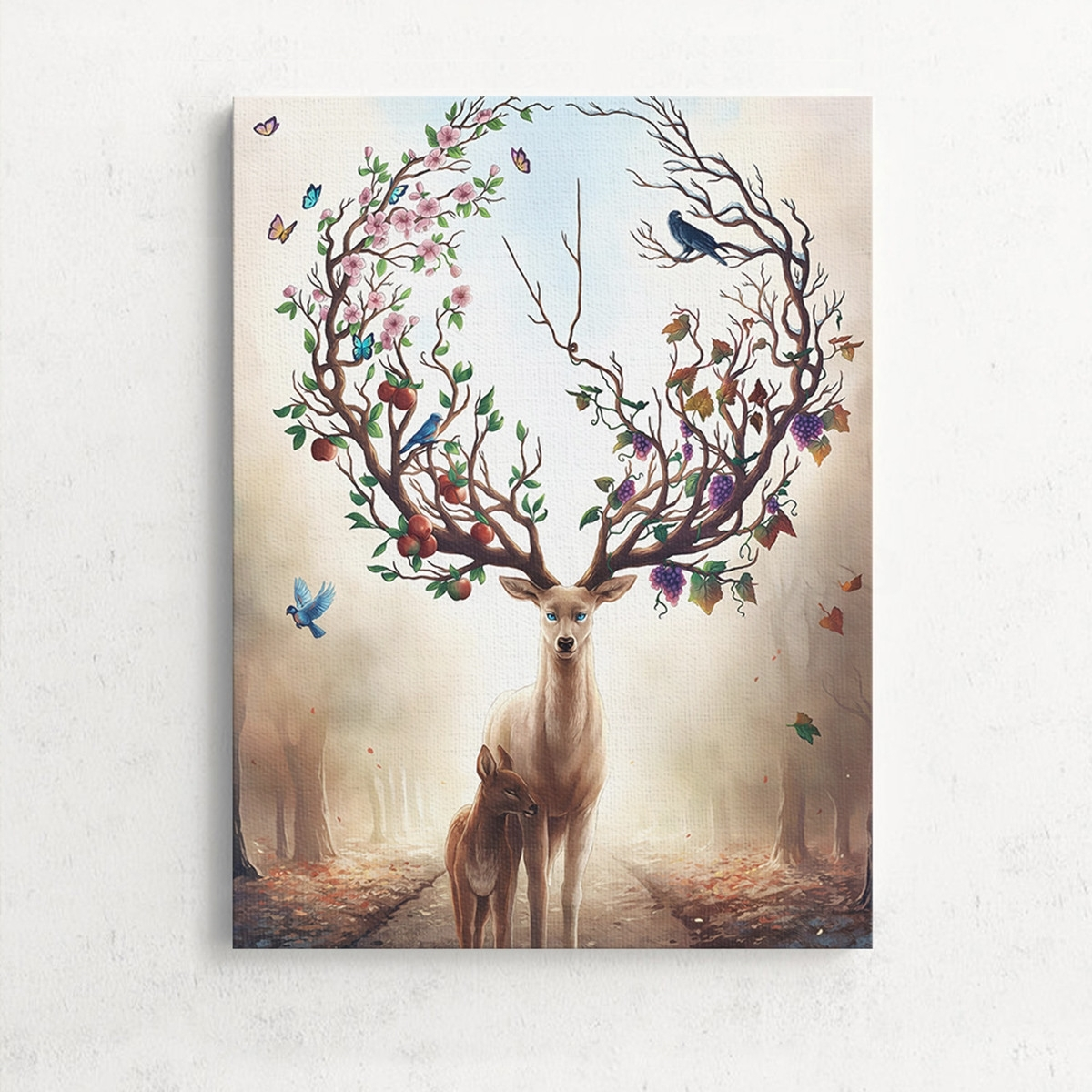 Latest Deer Canvas Wall Art Throughout Unframed Canvas Print Deer Design Modern Home Decor Wall Art (Gallery 4 of 15)