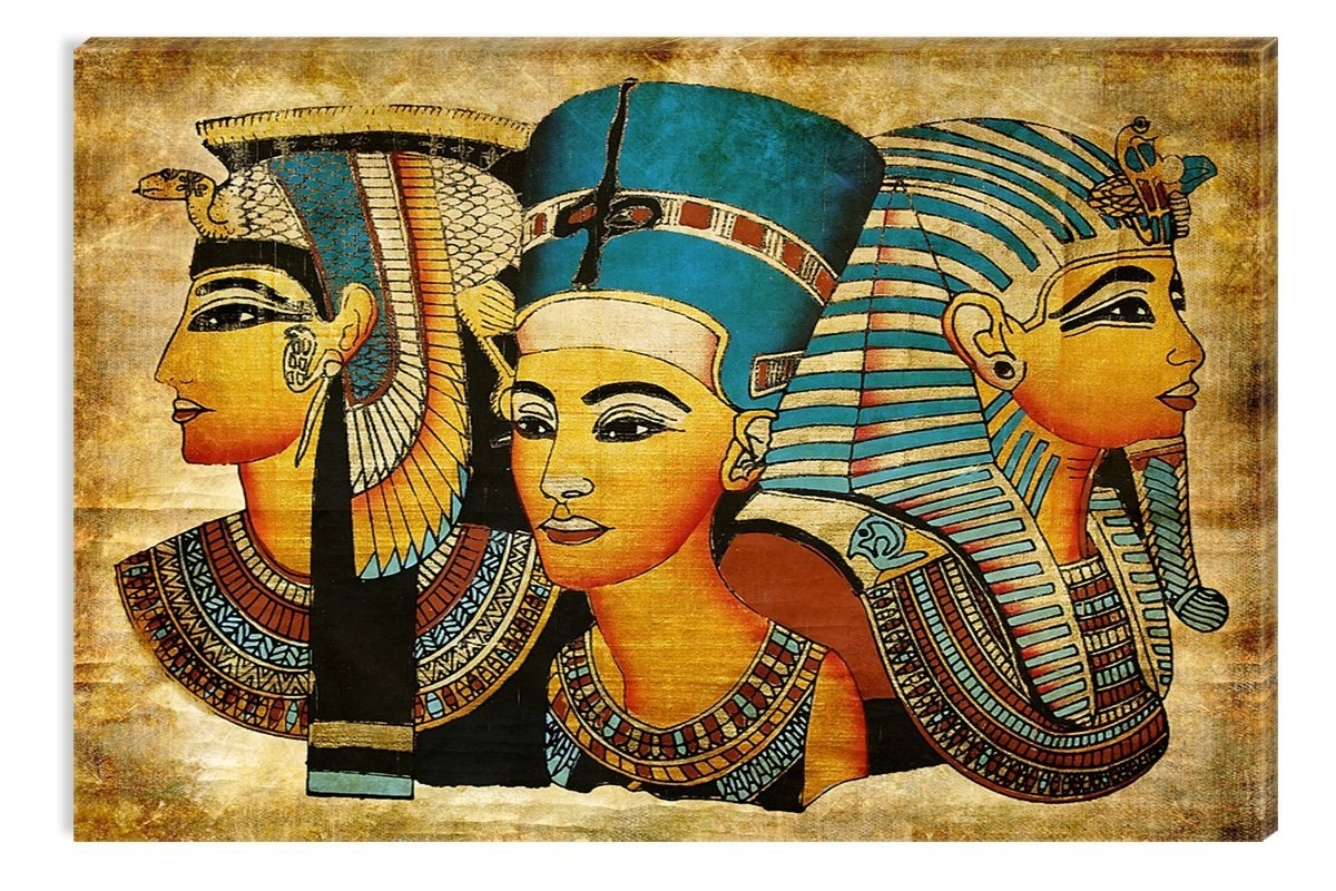Latest Egyptian Canvas Wall Art Regarding Amazon: Startonight Wall Art Canvas Egyptian Goddesses Epic (View 12 of 15)