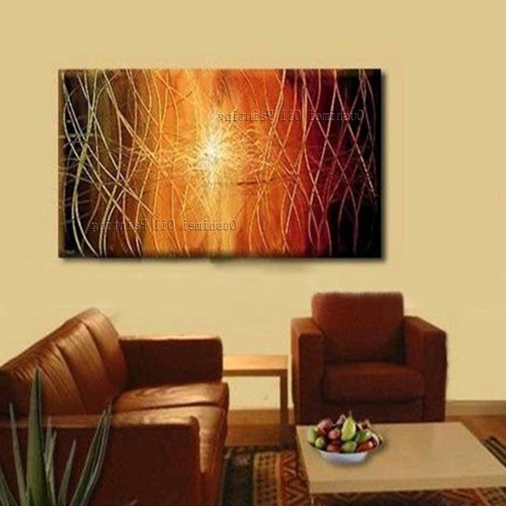 Latest Hand Painted Canvas Wall Art In New Hand Painted Modern Creative Abstract Picture On Canvas Wall (Gallery 7 of 15)
