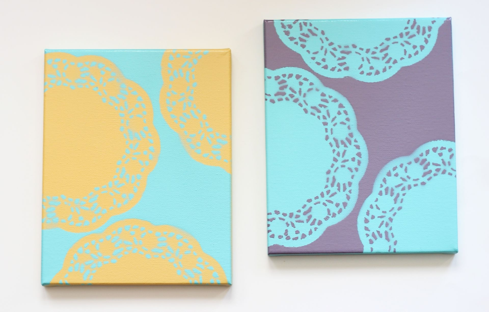 Latest Homemade Canvas Wall Art Intended For Easy Diy Wall Art With Doilies (View 11 of 15)