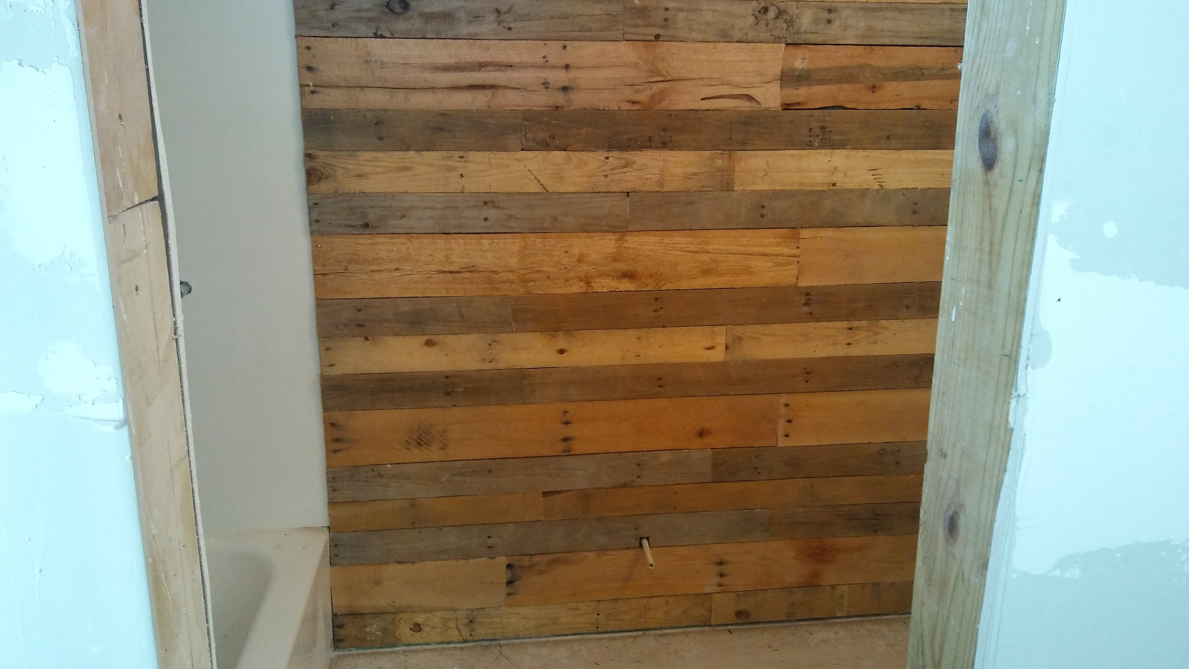 Latest How To Pallet Wood Accent Wall – Youtube With Regard To Wood Pallets Wall Accents (View 4 of 15)