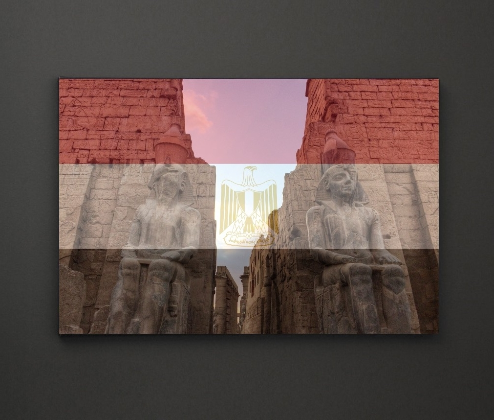 Latest Luxor Temple Egypt Flag A4 Framed/box Canvas A4 A3 A2 A1 Gift With Regard To Leadgate Canvas Wall Art (View 13 of 15)