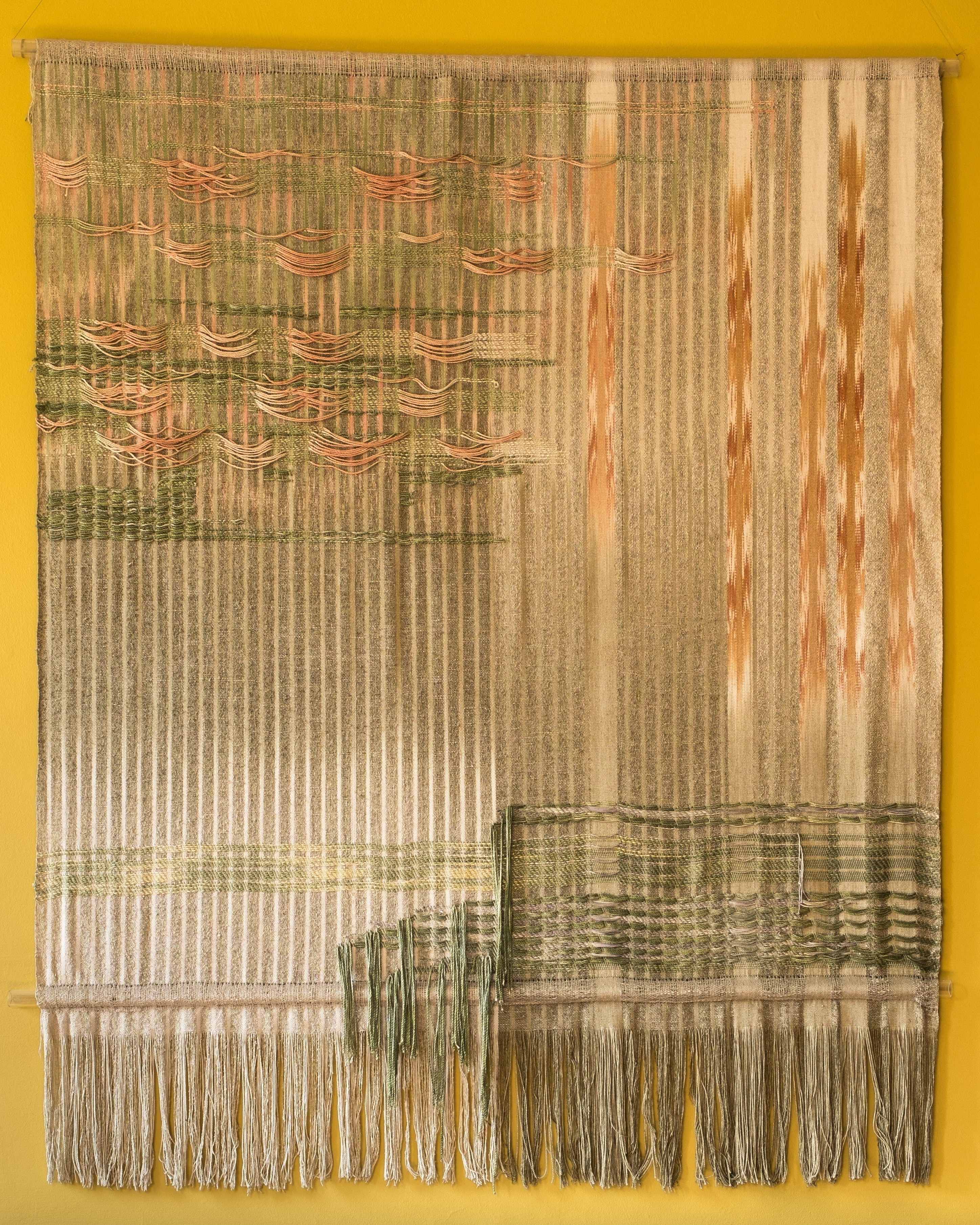 Latest Modern Textile Wall Art With Beyond The Garden Wall – Textile Wall Hangingheidi Lichterman (Gallery 5 of 15)