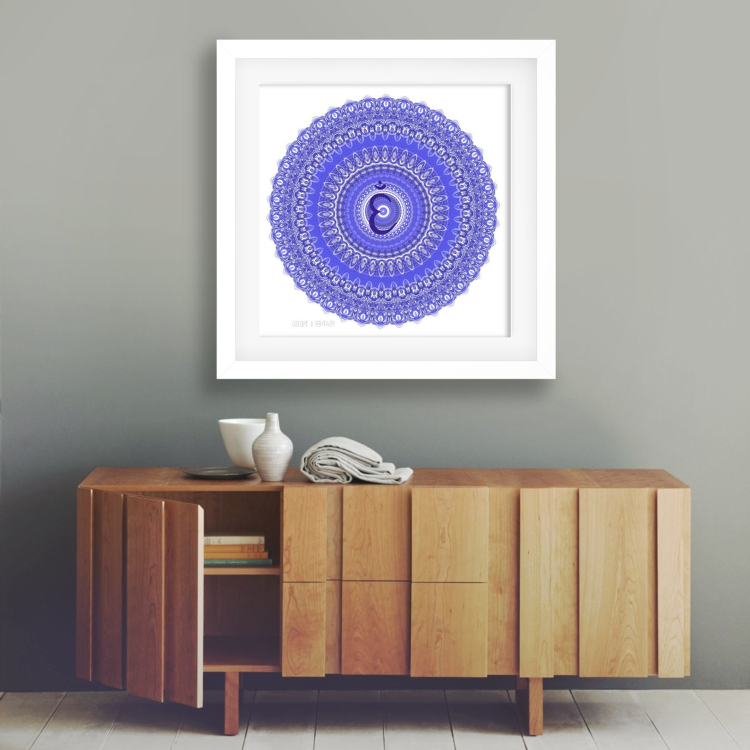 Latest Popular Items For Mandala Wall Decor On Etsy Third Eye Chakra Art With Regard To Etsy Wall Accents (View 7 of 15)