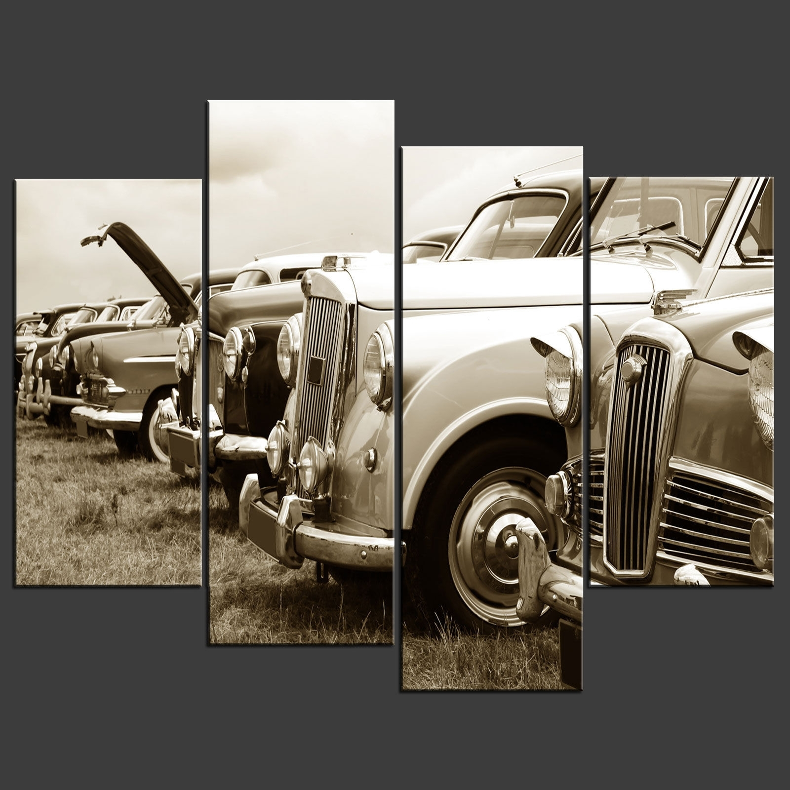 Latest Retro Canvas Wall Art For Wall Art Decor: Completely New Vintage Car Wall Art Unique Look (View 9 of 15)