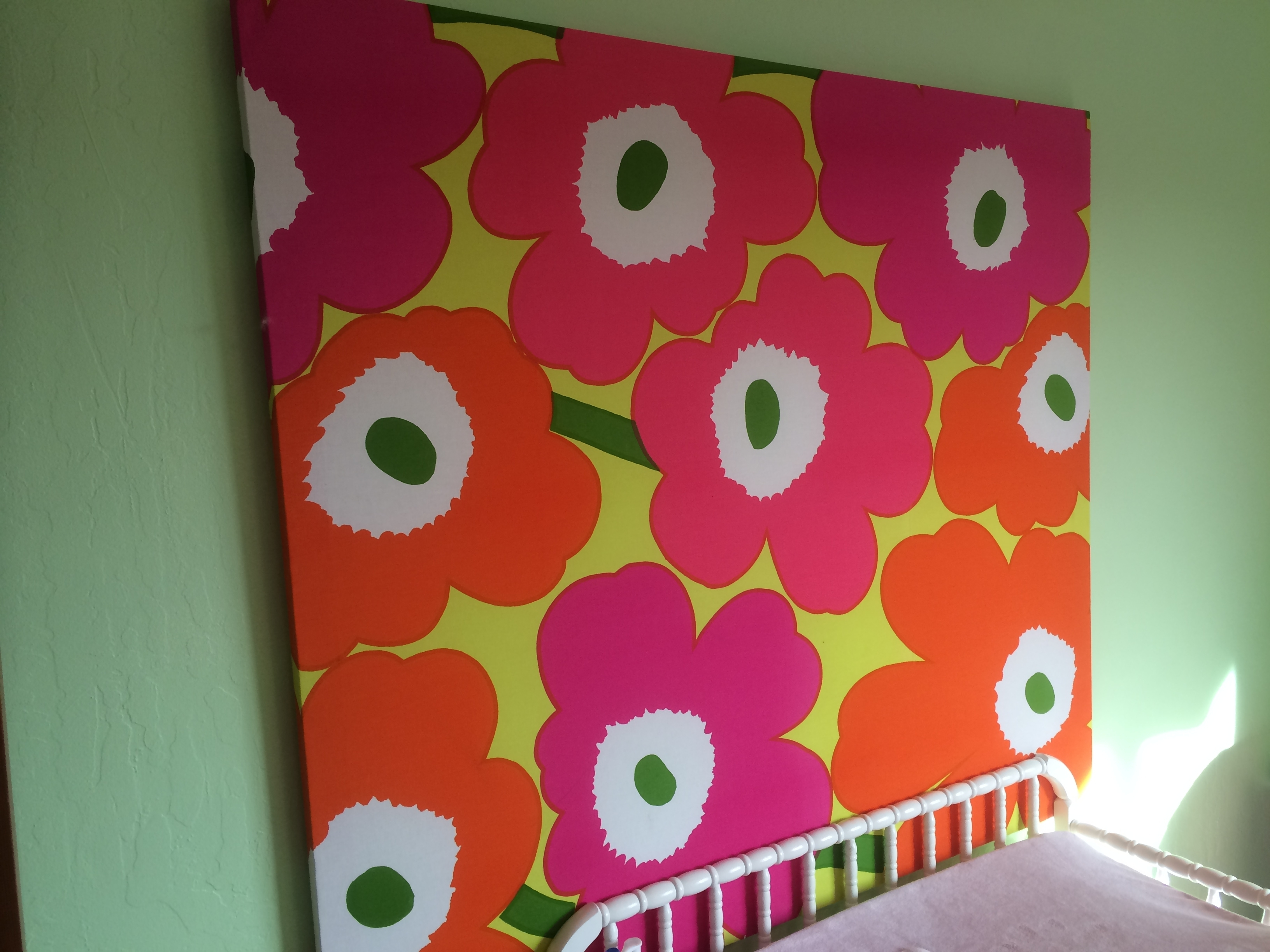 Latest Today's Hint: Easy Diy Nursery & Playroom Wall Art – Hint Mama For Marimekko 'kevatjuhla' Fabric Wall Art (Gallery 6 of 15)
