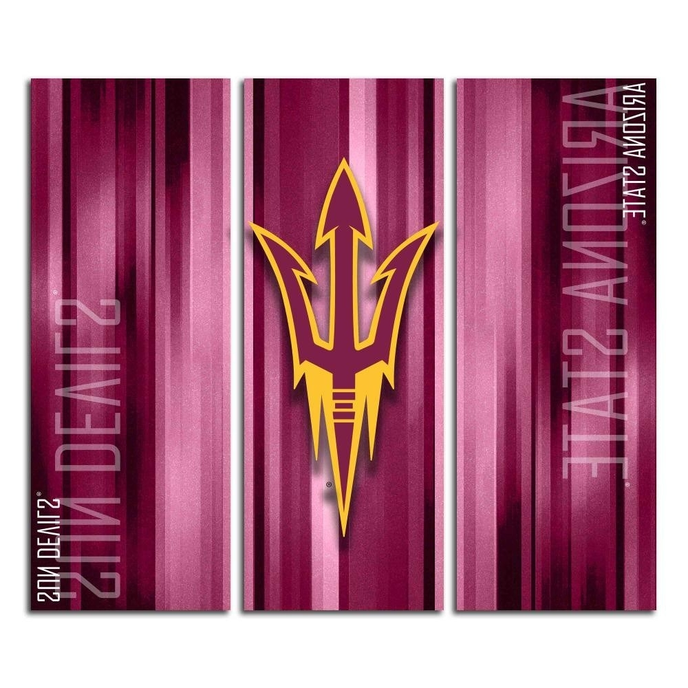 Latest Victory Tailgate – Arizona State Asu Sun Devils Triptych Canvas Intended For Arizona Canvas Wall Art Arizona (View 7 of 15)