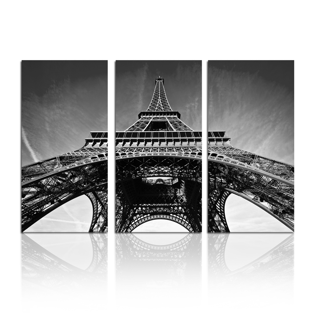 Latest Wall Art Designs: Black And White Canvas Wall Art Wall Art Canvas Within Eiffel Tower Canvas Wall Art (View 8 of 15)