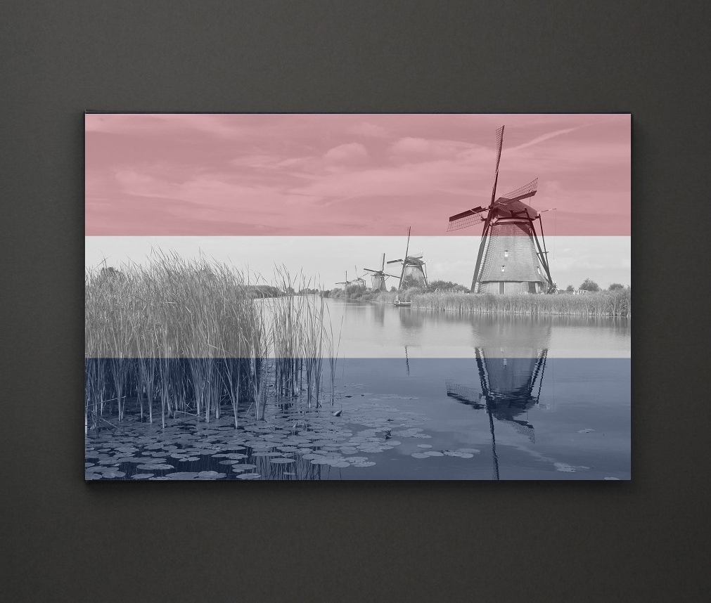 Leadgate Canvas Wall Art Intended For Famous Kinderdijk Windmill Holland Flag A4 Framed/box Canvas A4 A3 A2 A (View 14 of 15)