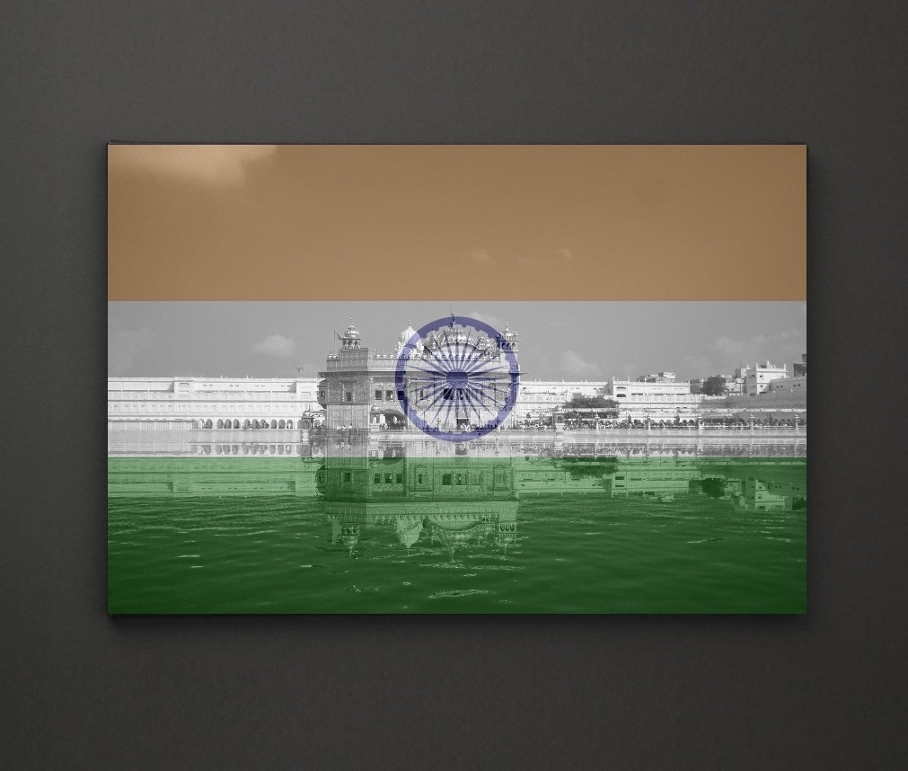 Leadgate Canvas Wall Art Pertaining To Trendy Golden Temple India Flag A4 Framed/box Canvas A4 A3 A2 A1 Gift (Gallery 10 of 15)