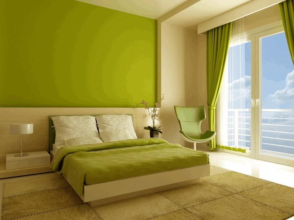 Lime Green Walls In Bedroom White Wood Finish Material Unfinished Within Favorite Green Wall Accents (View 9 of 15)