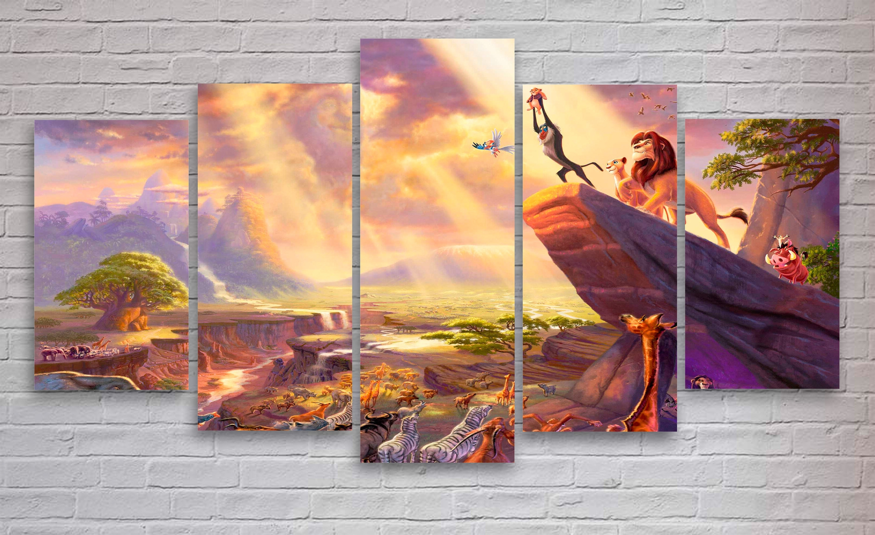 Lion King Canvas Wall Art With Regard To Newest Lion King Movie Canvas, Disney World Wall Art, Lion King Canvas (View 7 of 15)