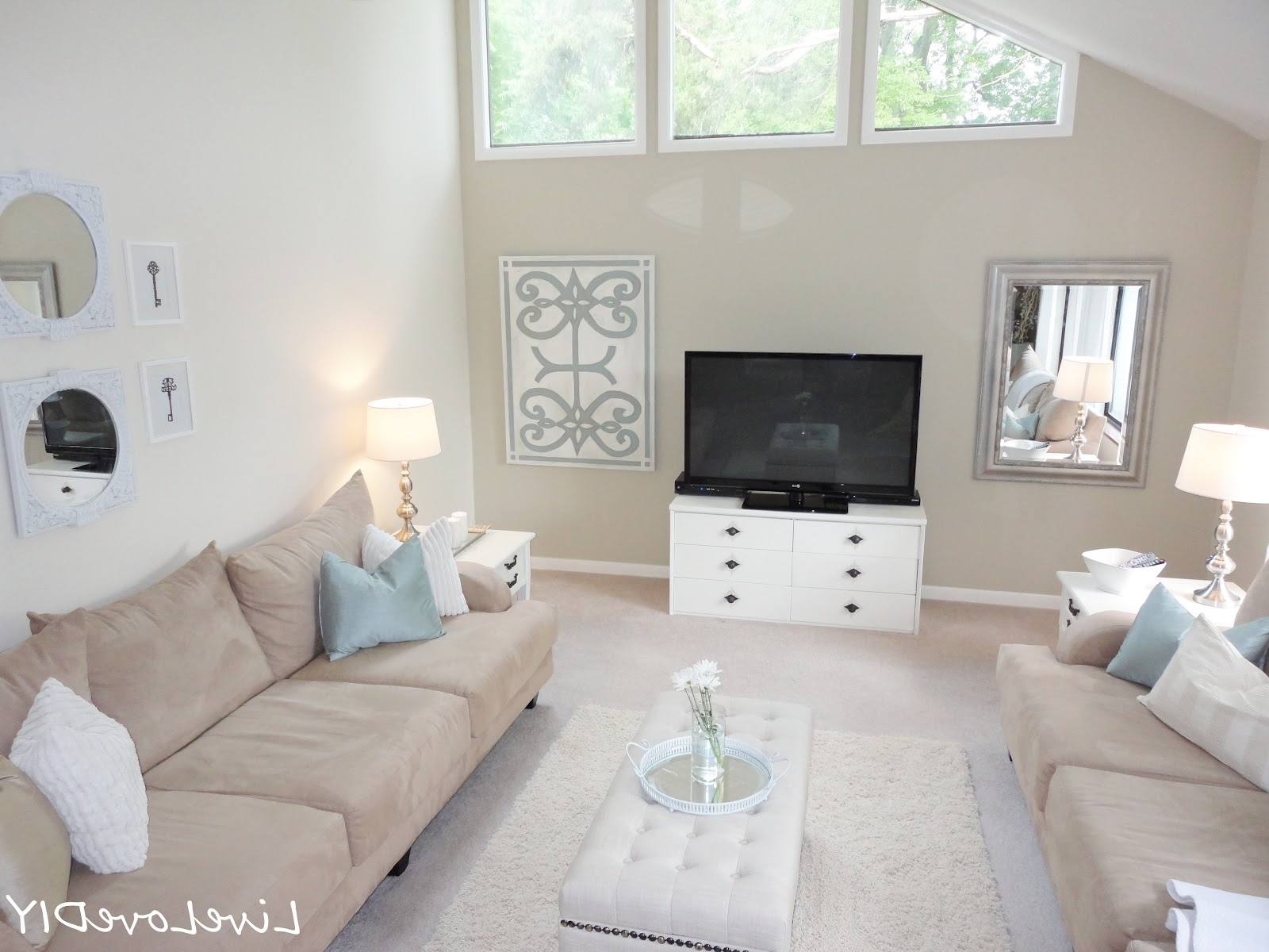 Livelovediy: Living Room Reveal & Diy Wall Art Pertaining To Recent Neutral Color Wall Accents (View 10 of 15)